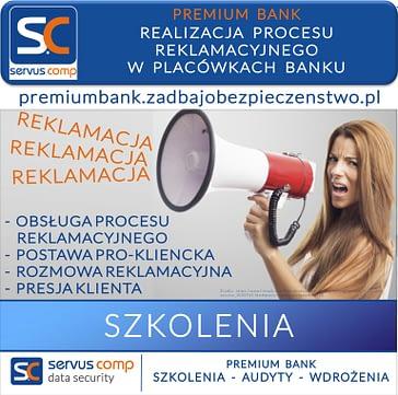 SKUTECZNA REALIZACJA PROCESU REKLAMACYJNEGO W PLACÓWKACH BANKU