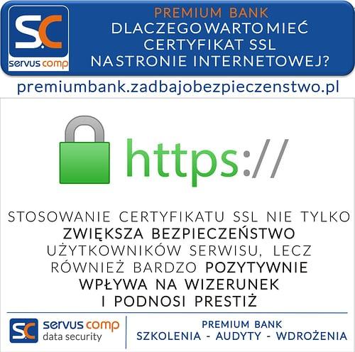 Dlaczego warto mieć certyfikat SSL na stronie internetowej Servus Comp